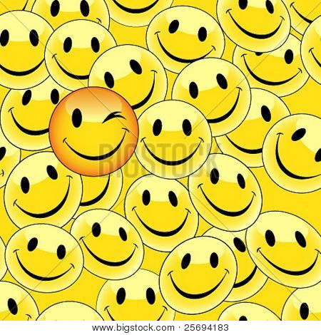 Vector illustration of smiley 2