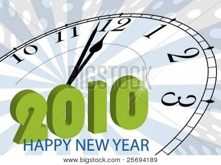 Vector illustration for a happy 2010 ( New Year )