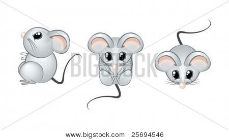 Cute mouse open eyes