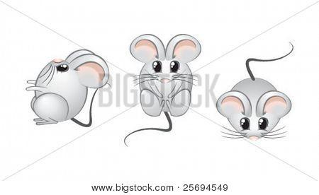 Cute mouse open eyes 2