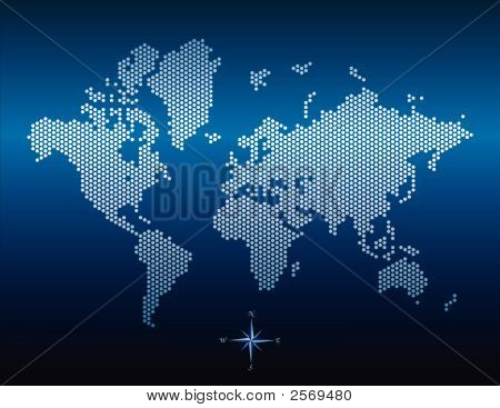 Vector Doted World Map