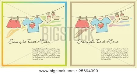 Cloths on the clothesline template