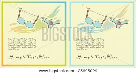 lingerie on the clothesline template