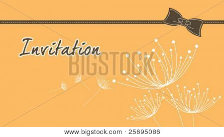 dandelion invitation template 06