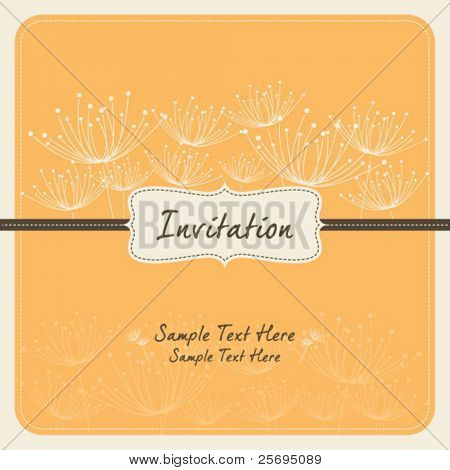dandelion invitation template 08