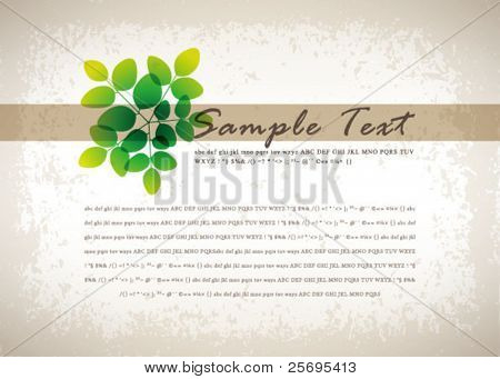retro abstract flora background 03