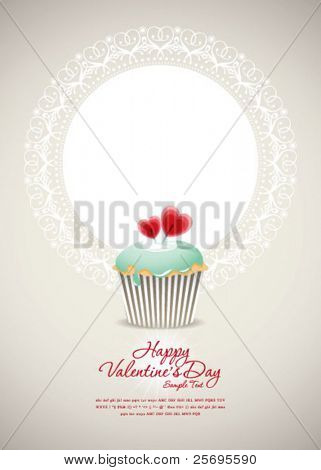 Vintage cupcake background 01