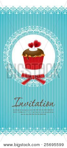 Vintage cupcake background 05