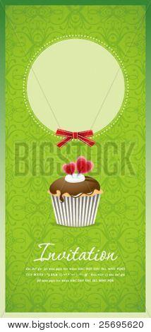 Vintage cupcake background 10