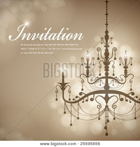 Luxury Chandelier background 07