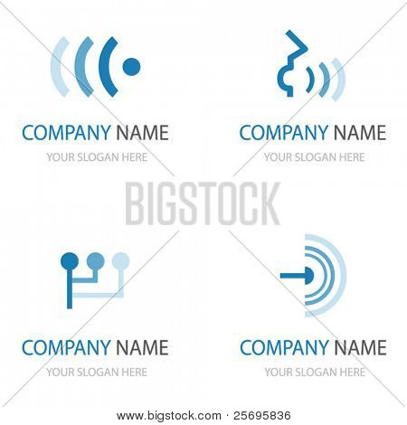 set of communication logos