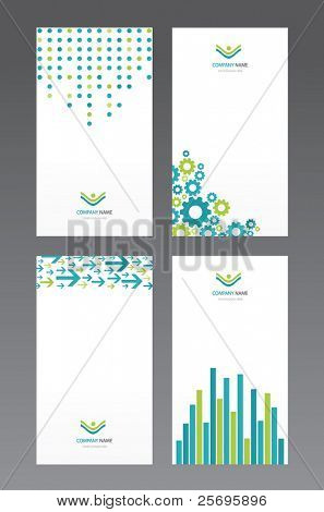 set of business cards, each card on separate layer