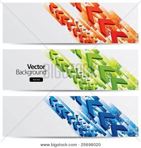 abstract vector headers