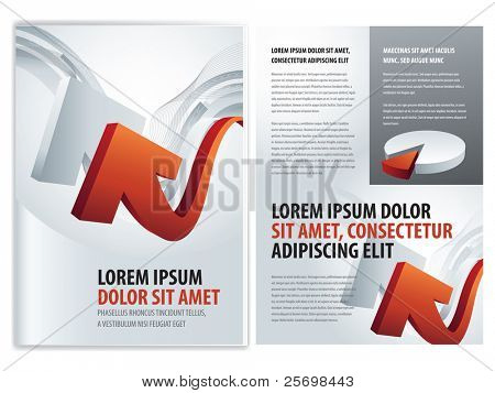vector business brochure, booklet template