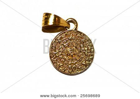 Real gold mayan amulet