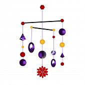 stock photo of windchime  - mobile chimes - JPG