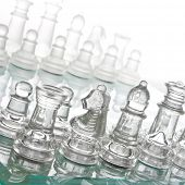 glass chess board game