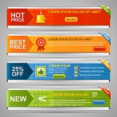 picture of coupon  - Vector Web Banner Set - JPG