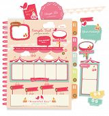 image of storyboard  - Cute scrapbook elements  - JPG
