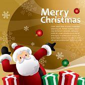 stock photo of christmas cards  - gold christmas gift template - JPG