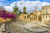 Ancient Roman Theater In Lecce, Puglia Region, Southern Italy poster