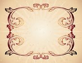 picture of lithographic  - Vintage frame on parchment - JPG