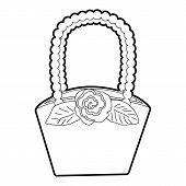 Basket Icon. Outline Illustration Of Basket Icon For Web poster