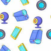 Electronic Appliance Pattern. Cartoon Illustration Of Electronic Appliance Pattern For Web poster