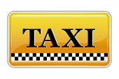 picture of tariff  - illustration of taxi symbol on isolated background - JPG