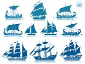 stock photo of galleon  - Ships of the past  iconset - JPG