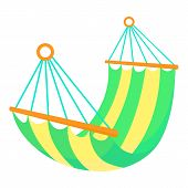 Hammock Icon. Cartoon Illustration Of Hammock Icon For Web poster