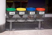 pic of segregation  - Recycle bins for various garbage litter segregation - JPG