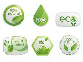Organic eco and bio labels