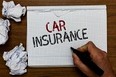 Handwriting Text Car Insurance. Concept Meaning Accidents Coverage Comprehensive Policy Motor Vehicl poster