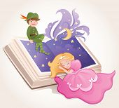 stock photo of fairy-tale  - Fairy tale kids - JPG