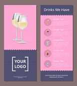 Cocktails Menu Cover Design List Of Drinks We Have, Prices And Ingredients, Choose Refreshing Alcoho poster