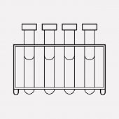 Blood Test Icon Line Element.  Illustration Of Blood Test Icon Line Isolated On Clean Background For poster