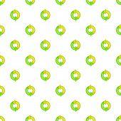 Green Refresh Arrows Pattern. Cartoon Illustration Of Green Refresh Arrows Pattern For Web poster