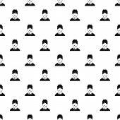 Male Avatar Sweat Pattern. Simple Illustration Of Male Avatar Sweat Pattern For Web poster