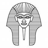 Egyptian Pharaohs Mask Icon. Outline Illustration Of Egyptian Pharaohs Mask Icon For Web poster