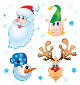 stock photo of rudolph  - Santa Clause - JPG