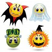 Smiley balls with Halloween mask