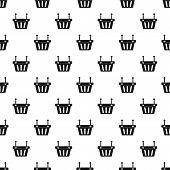 Shopping Basket Pattern. Simple Illustration Of Shopping Basket Pattern For Web poster