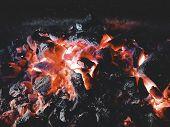Bonfire And Coals.bonfire In The Open Air poster