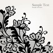 picture of lace  - Black lace vector design  All shape available under clipping mask - JPG