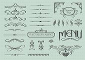 picture of scroll design  - Calligraphic design elements and page decoration - JPG