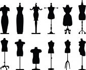 stock photo of tailoring  - Tailor dolls vector collection - JPG