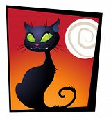 foto of black cat  - Whimsical black cat - JPG