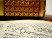 pic of law-books  - shallow depth of field description of law and law textbooks - JPG
