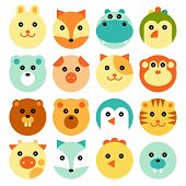 African Animals, Polar Animals, Farm Animals And Forest Animals Set poster